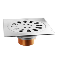 Stainless steel floor drain for bathroom
