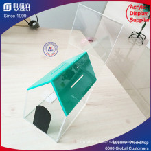 Clear Perspex House Acrylic Donation Money Box