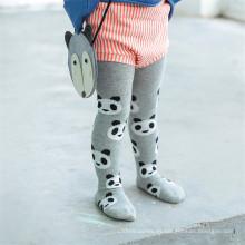 Panda vendedora caliente diseña las medias / pantyhose del algodón del cabrito