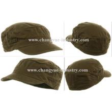Angustiados algodón lavado verde equipado ejército flat top cap