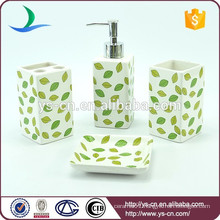 Wholesale Leaves Design Ceramic Accessories For The Bathroom