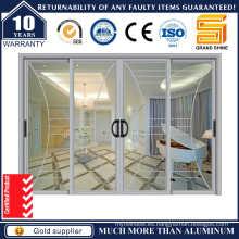 Doble Acristalamiento Interior Aluminio Deslizante Pation Puertas de Vidrio