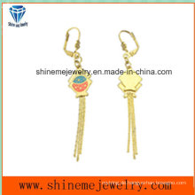 Modeschmuck Gold vergoldeter Edelstahl Eardrop Ohrring (ERS7003)