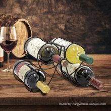 Amazon hot sale table wine racks 4 bottles metal wine rack
