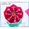 Bougies d'anniversaire de premier ordre dans des bougies musicales à double couche en forme de fleur à vendre