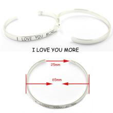 2016 Silver Metal Friendship Fashion Cuff Bracelet for Sales