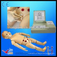 Manequim de enfermagem de criança de um ano com funcionalidade completa, manequins médicos para crianças