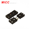 black standard connector of thermocouple type J male for manufacturing thermocouple