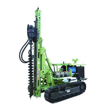 Machine d'entraînement de pieux vissés au sol