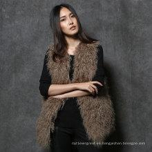 Gilet de la piel de Mongolian de la piel de Mongolian real de la piel para las muchachas