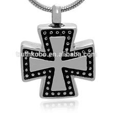 Pendentif croix religieuse de bijoux de crémation en acier inoxydable de Guangzhou