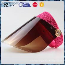 Hot promotion simple design plastic kids visor cap for 2016