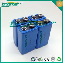 Bateria de lítio primária 1200mah lítio 9V levou bateria leve 30AH