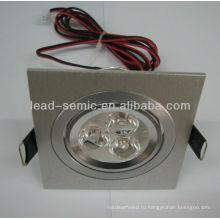 Квадратный светодиодный светильник 3 * 3W / 3 * 2W декоративный
