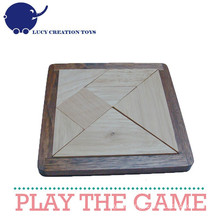 Handmade Wooden Tangram Puzzle for Kids