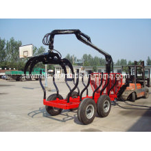 Forest Log Trailer with Crane for Tractor