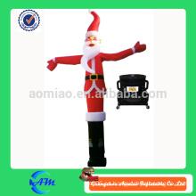 Navidad santa claus inflables aire bailarina cielo dancer aire tubo para publicidad