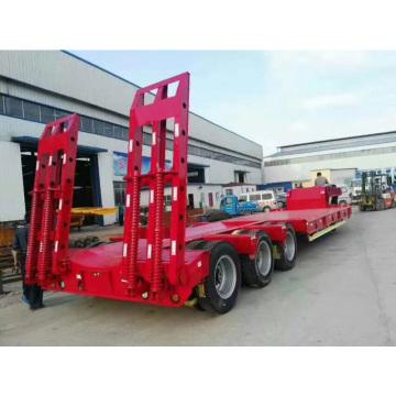 Machines de construction Semi-remorque plateau 3 essieux