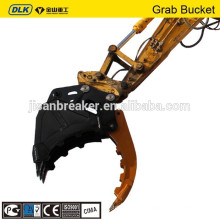 doosan kobelco SK200 bucket grapple, hydraulic Clamp grab, excavator grapple bucket