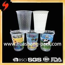 Custom Take Away 12oz Clear Printing Одноразовые пластиковые чашки
