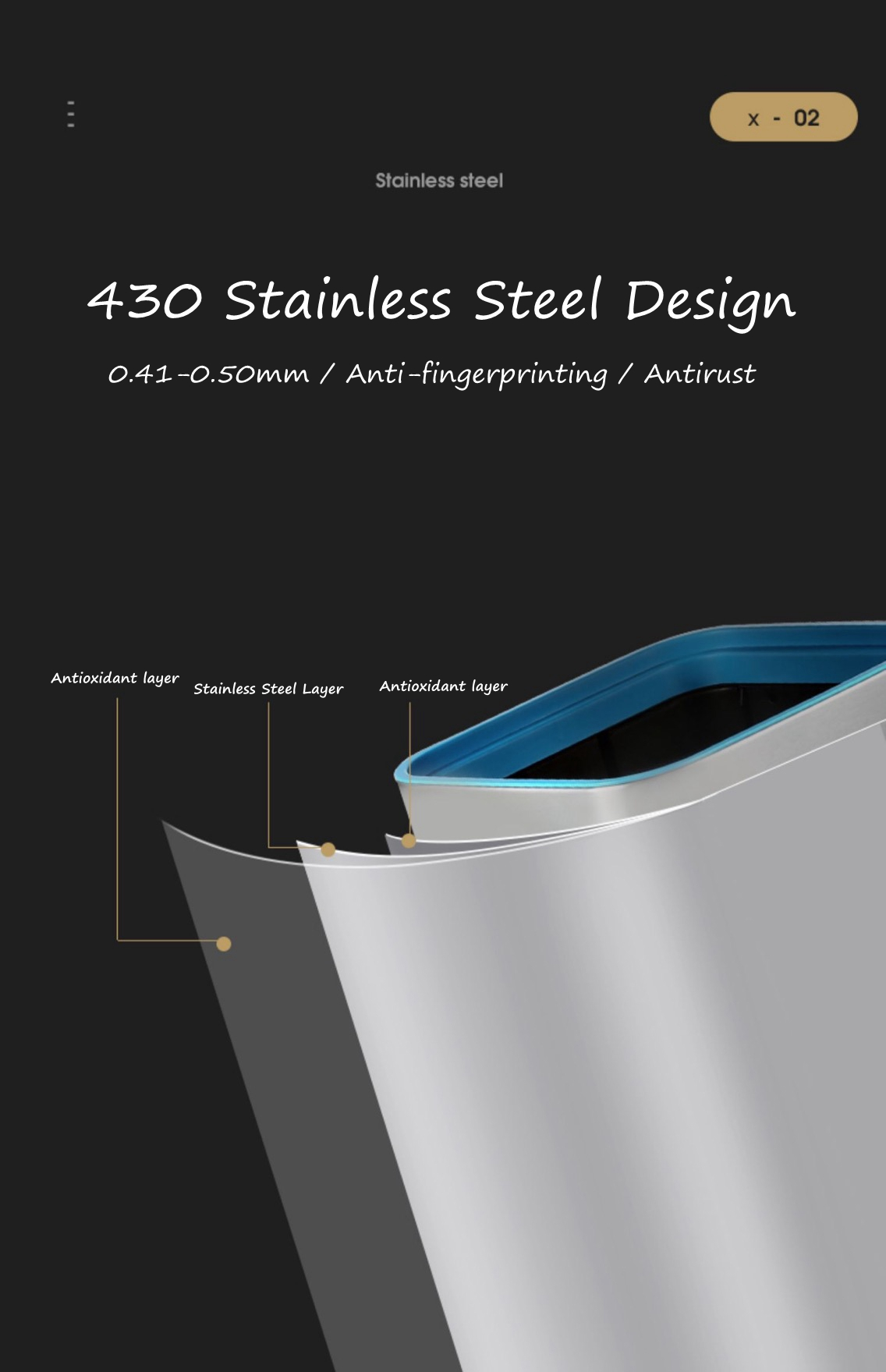 Strong Steel Step Litter Can