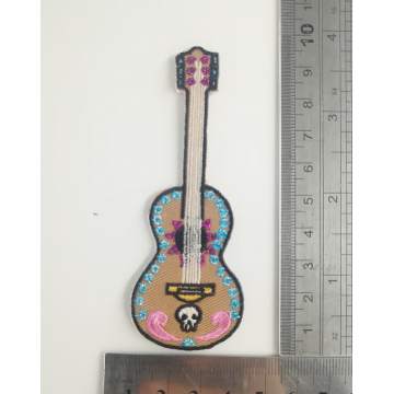 Coco Movie Guitar Embroidery Patch USA Iron On