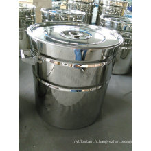 Tambour à nervures en acier inoxydable / 200L Ribbered Drum / Stainless Steel Ribbed Tank