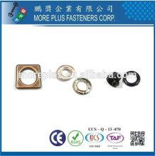 Taiwan Oreillette à rideaux à oeillets en laiton Cuivre métallique Plaqué or Acier
