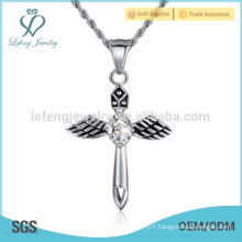 Popular style mini necklace pendant angel,golden pendant angel engraved