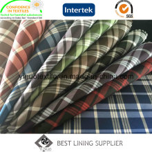 100% Polyester Classic Check Lining for Cloth