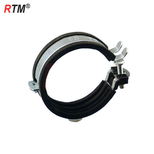Metric stainless steel single pipe clamps