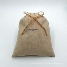 sacs à cordon en jute pour bijoux