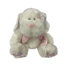 Пухлая игрушка кролика с розовым шарфом