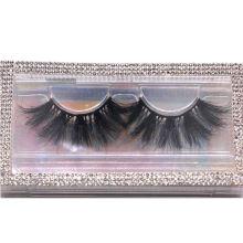 SL035 Hitomi your own brand eyelash 100% Siberian Mink Fur Eyelashes Fluffy real 25mm mink eyelashes