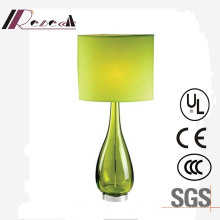 Unique Design Green Glass Bedside Decorative Table Lamp