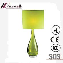 Candeeiro de mesa decorativo da cabeceira original do vidro verde do projeto