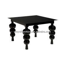 Contemporary coffee table with bulbous oversized pedestal leg XT7007