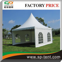 5x5m Porzellan Aluminiumrahmen verzierte Pagodenzelt für kleine Gartenparty und Sportveranstaltung