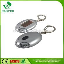 2 led plastic solar flashlight mini solar keychain