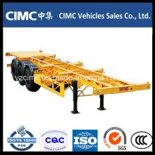 Cimc 3 eje 40ton Skeleton 40FT camión de contenedores semirremolque