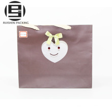 Coated fancy paper shopping bags with logo