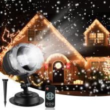 LED Weihnachten Schneeflocke Licht