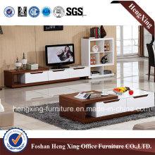White Color Melamine Living Room Furniture TV Stand (HX-6M298)