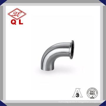 Sanitaire en acier inoxydable Raccord de tuyau Coude Un côté serré Un côté soudé