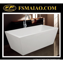 Sharp-Straight Rectangle Bathtub Acrylic Freestanding Bathtub (9015)
