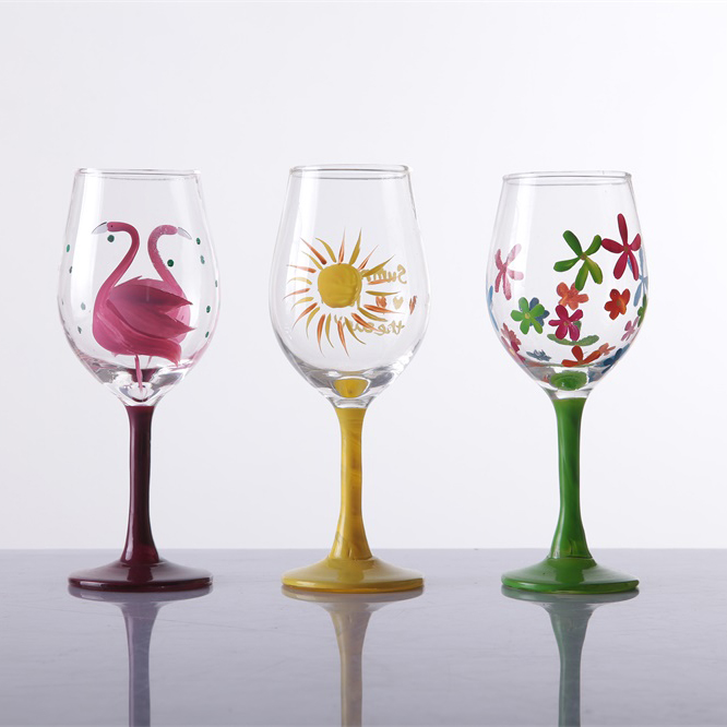 Br 9050featured Decal Red Wine Glass Of High White Crystal Glass Material
