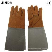 Защитные рабочие перчатки из натуральной кожи (L001)