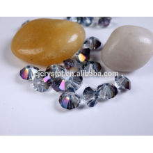 Perles en vrac en vrac, perles de verre peu coûteuses, perles bicone