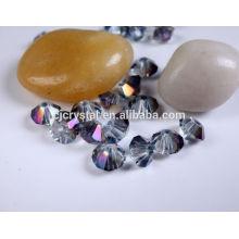 Оптовые кристаллические свободные шарики, дешевые стеклянные бусины, шарик bicone