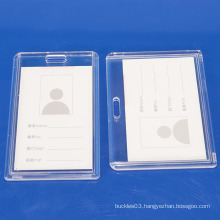 Plastic clear ID card holder for employee